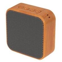 A70 Mini Altavoz Bluetooth portátil de grano de madera, altavoz inalámbrico Vintage con soporte de micrófono, tarjeta TF, Radio FM para teléfono móvil