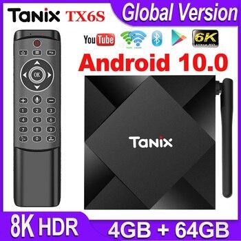 Tanix TX6S Android 10 TV BOX Smart Set top Box Allwinner H616 Quad Core Android TV Box H.265 4K Media player pk T95 Android 10.0