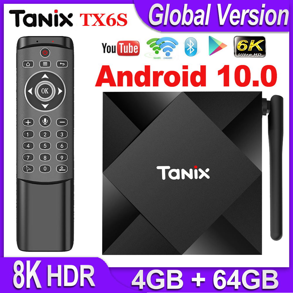 Tanix TX6S Android 10 TV BOX Smart Set top Box Allwinner H616 Quad Core Android TV Box H 265 4K Media player pk T95 Android 10 0