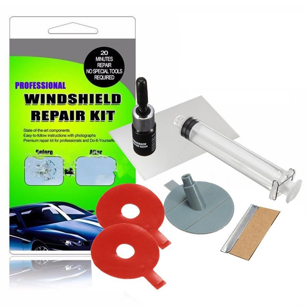 New Windshield Repair Kits DIY Car Window Glass Scratches Restore Tool Windscreen Polishing Repair Tool Set For Chips Cracks