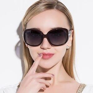 Image 2 - Ladies Driving Sunglasses Women UV400 Luxury Brand Design Sunglasses Vintage Oval Shades Sun Glasses Female lunette de soleil