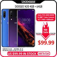 Doogee N20 Cellulare Impronte Digitali 6.3 Pollici Fhd + Display 16MP Tripla Fotocamera Posteriore 64 Gb 4 Gb MT6763 Octa Core 4350 Mah Cellulare Lte