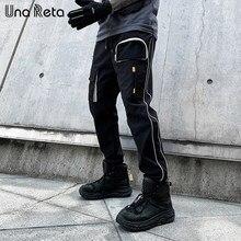 Una reta homem calças streetwear 2021 primavera verão nova moda japonês corredores hip hop calças dos homens casuais carga calças dos homens