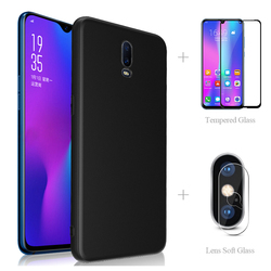 На Алиэкспресс купить чехол для смартфона matte back cover case + full tempered glass + camera protector for a9 2020 a5 ax7 pro a5s a3s a3 a1k f11 f9 r17 neo reno z a 9 5