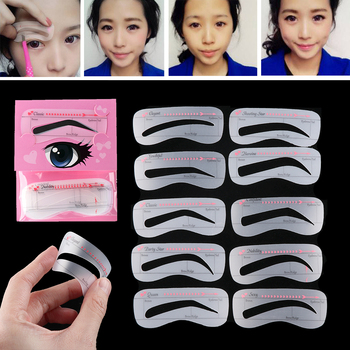 10 Fashion Styles Grooming Eyebrow Stencil DIY Makeup Tool Kit Beauty Stencil Eyebrow Stencil For Women Beauty Tools Accessories 1
