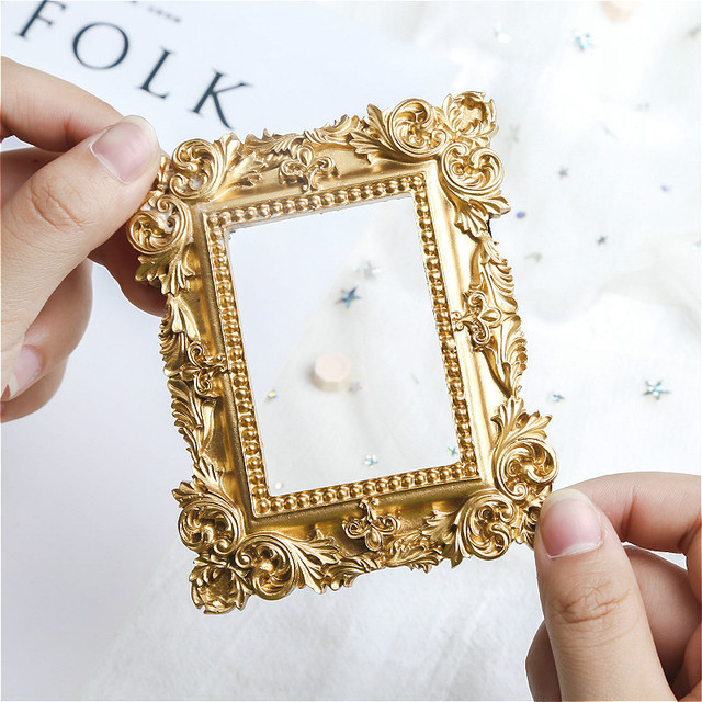 Golden Rococco Style Photo Frame