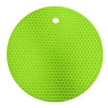 Круглый силиконовый резиновый коврик Многофункциональный теплоизоляционный коврик для посуды противоскользящая изоляционная Подставка для столовых приборов