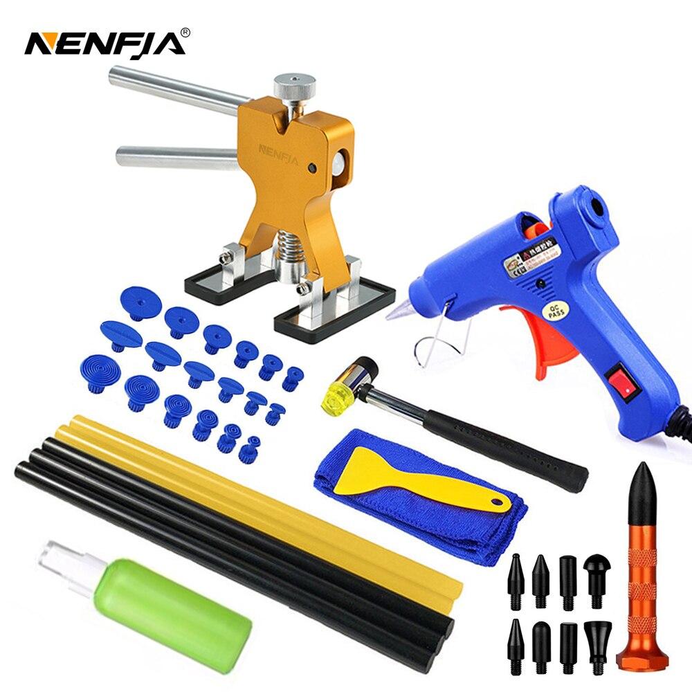 Kit de reparo para amassados automotivos, reparo de amassados, puxador com cola, anilhas, kits de remoção de amassados para veículo carro carro auto