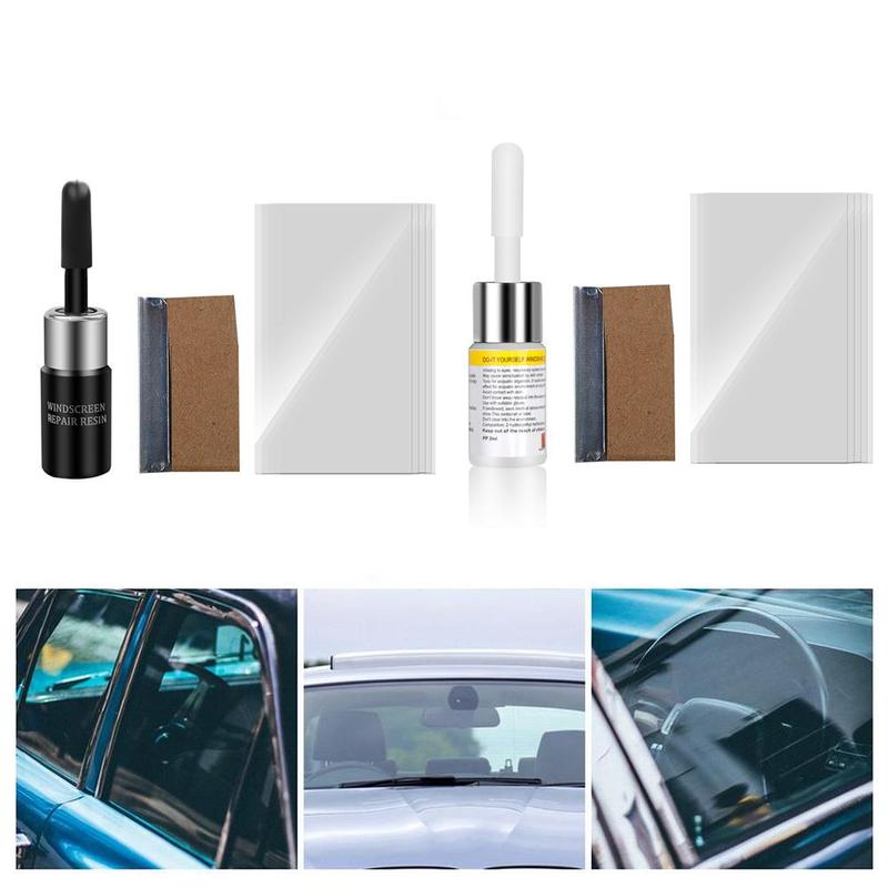 Auto Glass Repair Kit Quick Fix Car Cracked Glass Windscreen Repair Tool Kit Resin DIY Auto Window Screen Polishing Curing Glue