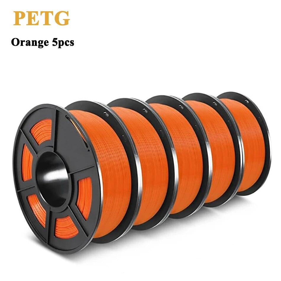 Пластиковая нить SUNLU PETG для 3d принтера, 1,75 мм, 5 рулонов/комплект, точность размеров +/-0,02 мм