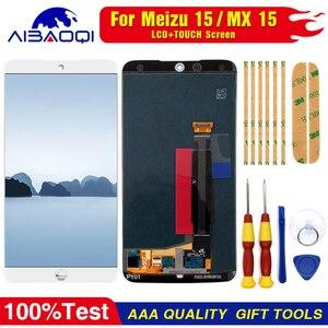 Image 4 - AiBaoQi do wyświetlacza LCD MEIZU 15 + ekran dotykowy digitizer do Meizu MX 15 / M881hM881Q AMOLED wyświetlacz lcd z ramką