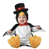New design Boys Girls Christmas Halloween Costumes Infant Baby Rompers penguin Jumpsuits Animal Cosplay Anime Toddlers Clothes