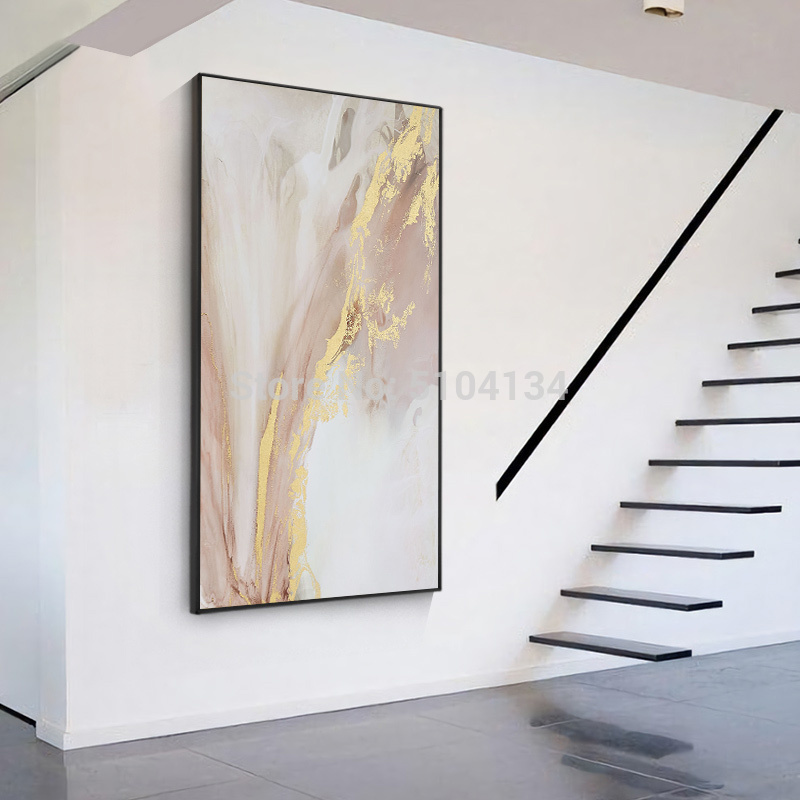 Hand-painted-Abstract-Gold-and-Pink-Color-Oil-Paintings-Modern-Canvas-Painting-Wall-Painting-for-Living (2)