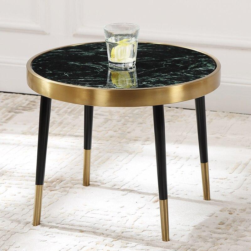 Nordique salon mode marbre table ronde créatif côté ensembles de tables canapé côté créatif table basse pf92117