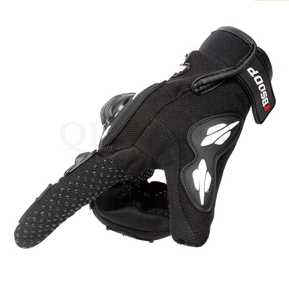 ユニバーサルオートバイ手袋黒革バイク白ロードレースチームグローブ男性夏冬 yamaha r1