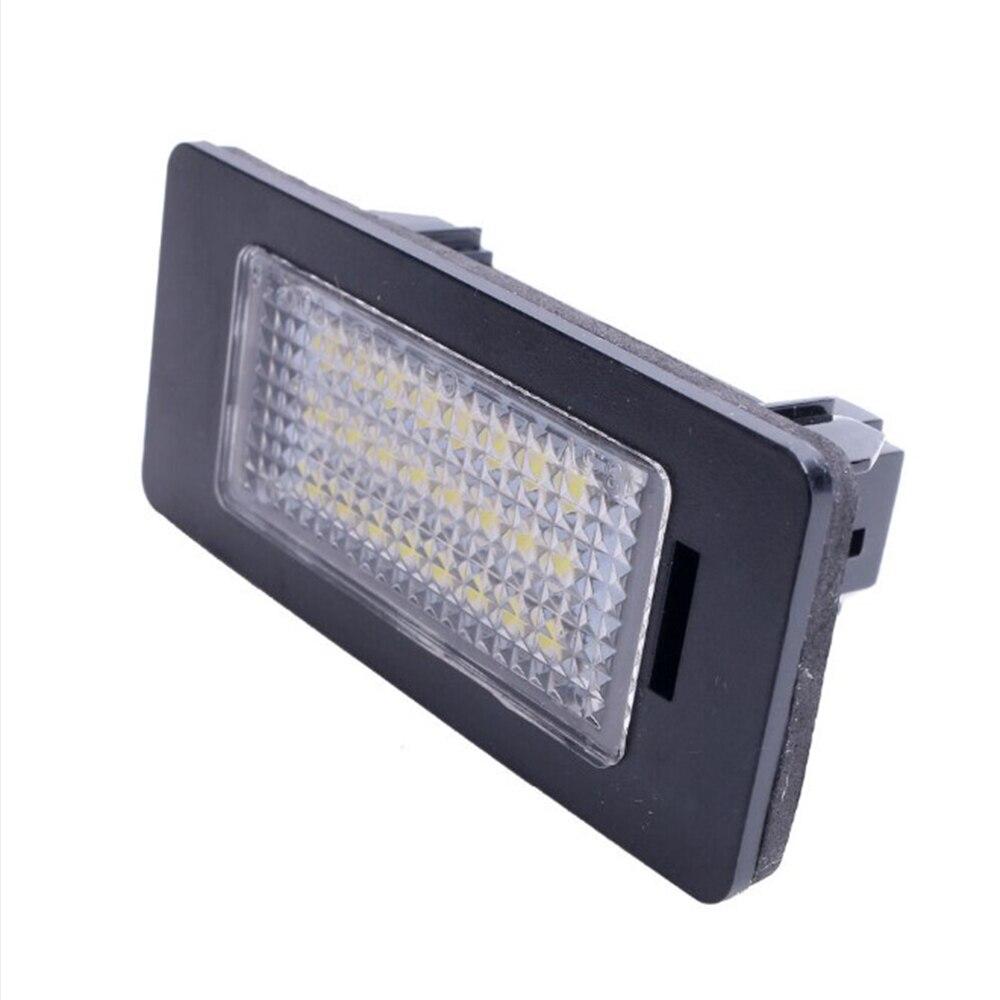 Carro conduziu a luz placas de licença lâmpada dc 12 v para bmw e39 e60 e82 e70 e90 e92 x3 5 6 acessório da placa licença|Chapa de licença| |  - title=