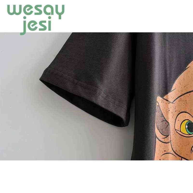 T Delle Donne Della Camicia 2019 di Nuovo Modo di Estate Del Fumetto Dumbo Della Stampa Del Bicchierino-manicotto Delle Donne T-Shirt Harajuku Sciolto Vestiti T-Shirt più Il Formato