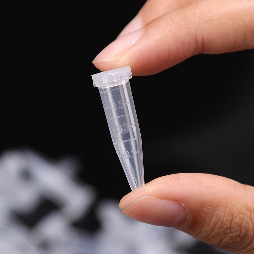 50PCS With Scale Centrifuge Tube 0.5ml Volume Plastic Bottles With Cap Transparent Laboratory Supplies School Stationery