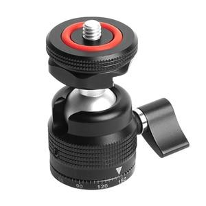 Image 3 - Hot Shoe Mount Mini Balhoofd 360 Panoramisch Monitor Houder Camera Pan Tilt 1/4 Koud Schoen Adapter Voor Statief Licht flash Bracket