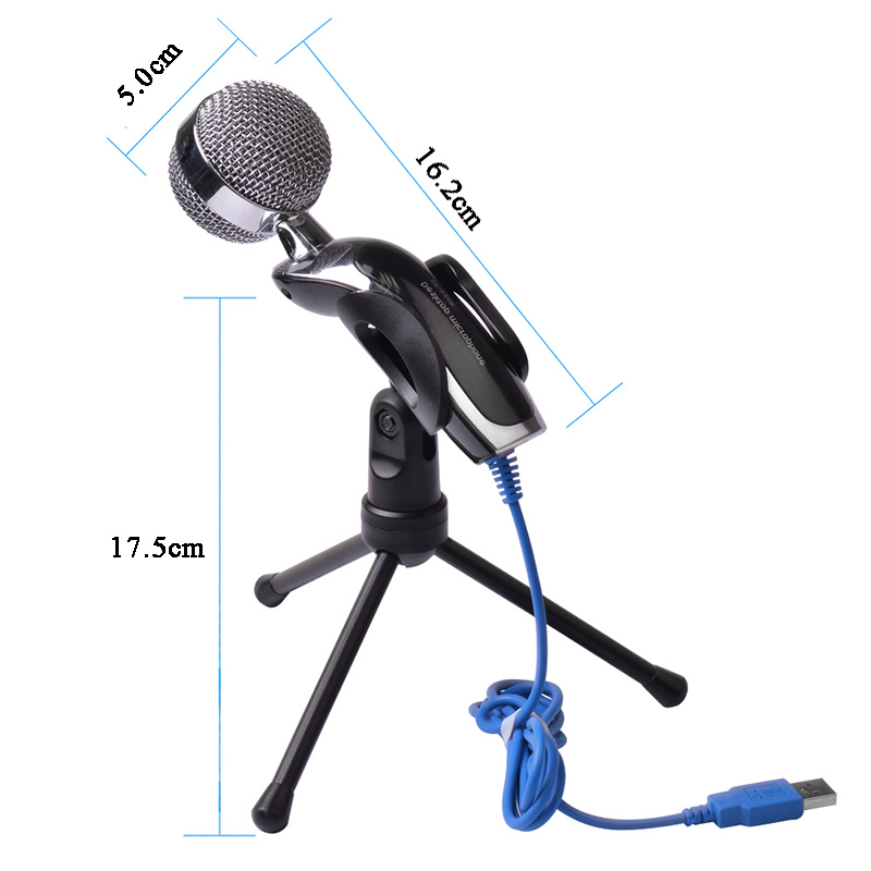 ZINGYOU Condenser Microphone With Mini Tripod Mic For Computer PC Karaoke Microfone USB Desktop Broadcasting Studio Microphones in Microphones from Consumer Electronics