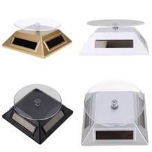 Vitrine solar 360 plataforma giratória anel de relógio de jóias exibição suporte de telefone organizador de jóias suporte de exibição difícil