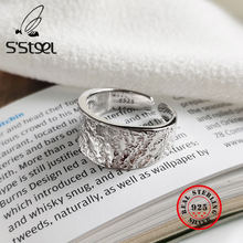 S'steel корейские кольца оригинальной формы 925 пробы серебро