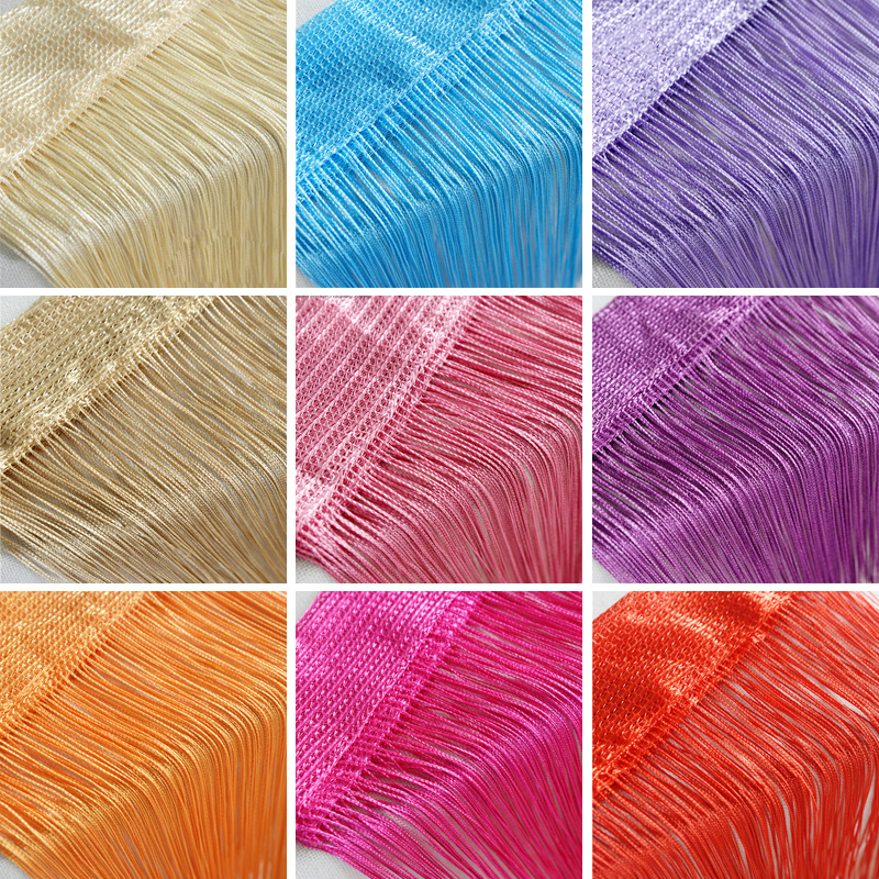 100CM X 200CM Thread Curtains Screen Ribbon String Divider Blind For Living Room Door Wall Window Panel Tassel Curtain