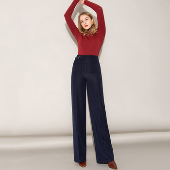 Wide Leg Pants Female 2020 Spring High Waist Long Pants Denim Casual Straight Pants Big Pants Streetwear Trousers Women Clothes