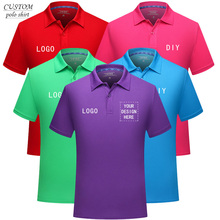 Custom embroidery personalised polo shirt full color text logo print work uniform workwear company -design your own polo.