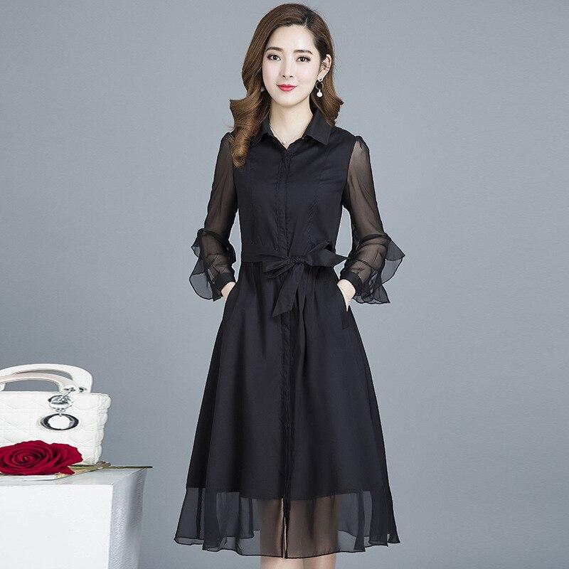 coreano de slim plus size vestidos moda 02