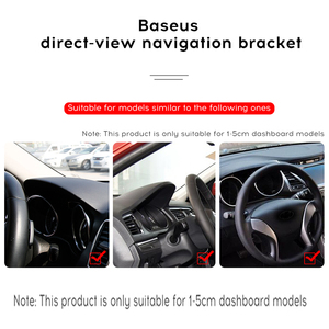 Image 3 - Baseus Dashboard Car Phone Holder For iPhone X 8 7 Samsung S9 S8 Mobile Phone Holder 360 Degree Adjustable Clip GPS Car Holder