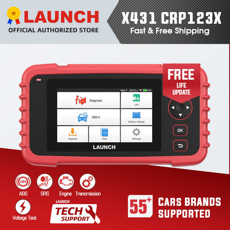 Launch X431 Crp123X Obd2 Scanner Auto Code Reader Car Diagnostic Tool Eng Op Abs Srs Diagnostic Scanner Automotive Tool Crp123