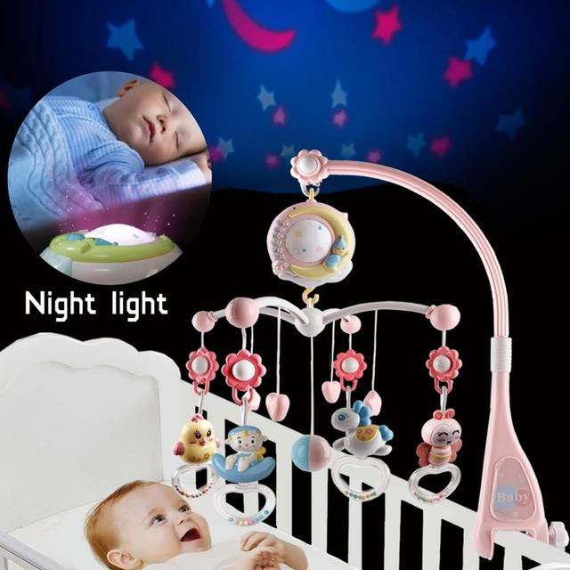 Baby Mobile Rattles Toys 0-12 Months For Baby Newborn Crib Bed Bell Toddler Rattles Carousel For Cots Kids Musical Toy Gift 2