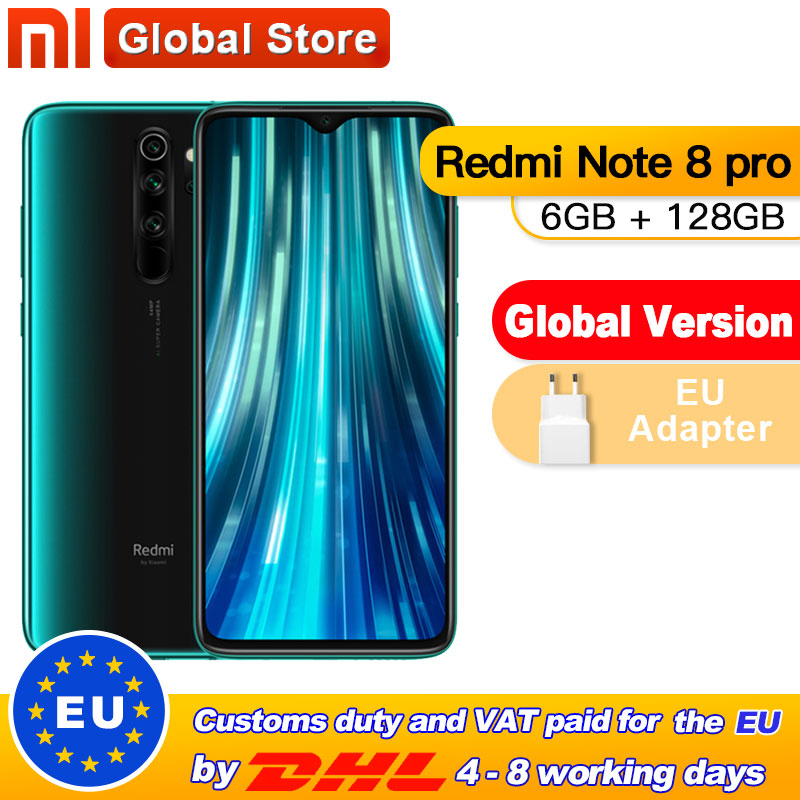 Global Version Xiaomi Redmi Note 8 Pro 6GB 128GB 64GB Mobile Phone 64MP Quad Camera MTK Helio G90T Smartphone 4500 NFC(China)