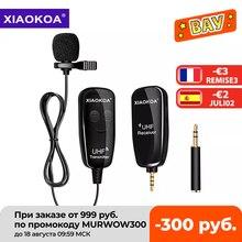 XIAOKOA UHF Lavalier Revers Drahtlose Mikrofon Aufnahme Vlog Youtube Live Interview für Iphone Ipad PC Android DSLR mikrofon