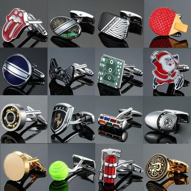 Nouveau classique Designes marque hommes français boutons de manchette Circuit jeu de société poignée coquille cheval boutons de manchette bijoux hommes cadeaux accessoires