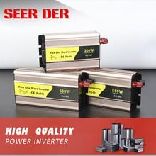 off grid 300W 500W 600W 50hz 60hz solar power converter dc 12v 24v to ac 220v 300 watt 500 watt pure sine wave car inverter