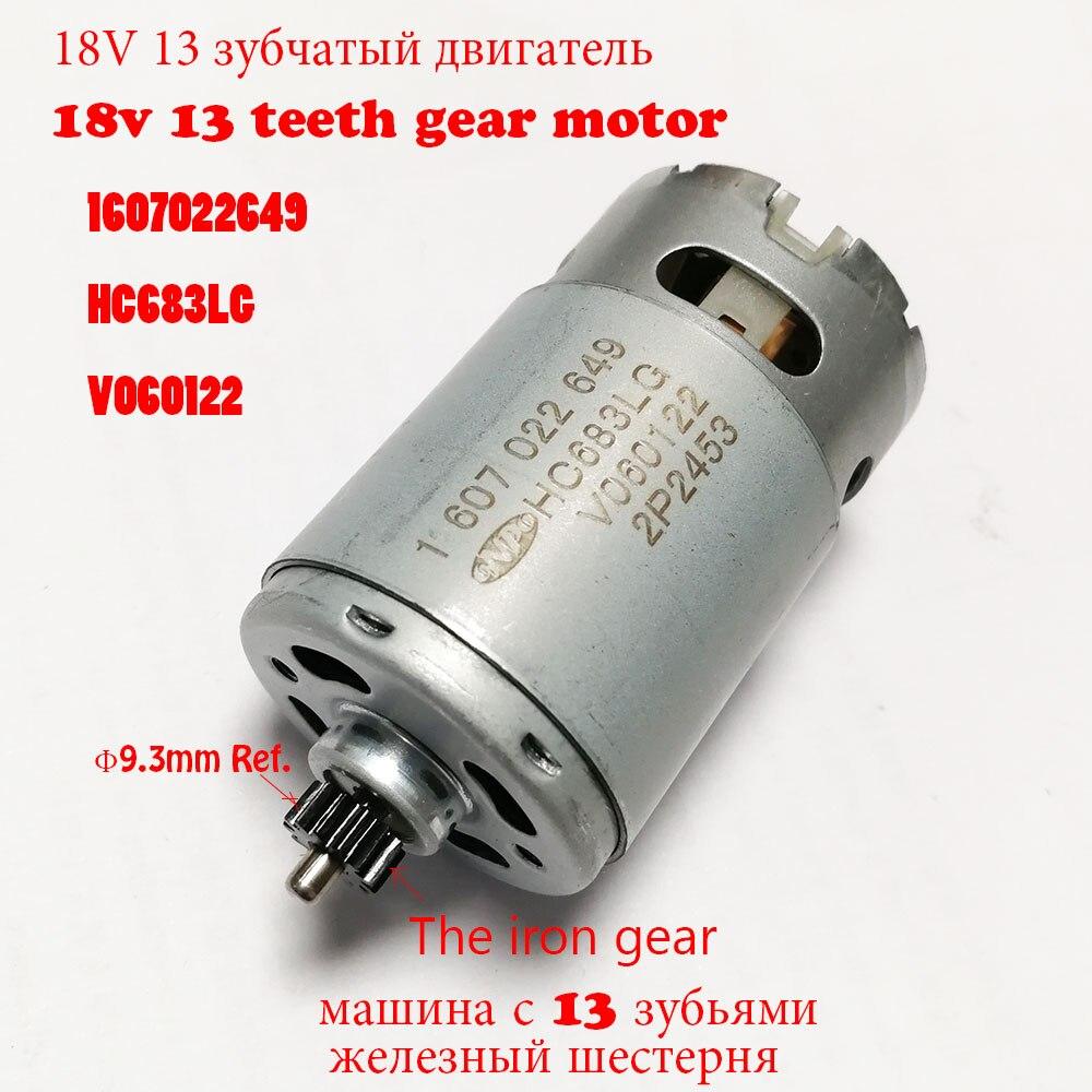 GSR18-2-LI ONPO DC Motor 18V 13 dientes 1607022649 HC683LG para BOSCH 3601JB7300 taladro eléctrico destornillador piezas de repuesto