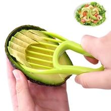 3-в-1 авокадо Slicer Ши нож для удаления сердцевины и нарезания масло Фруктовый нож резак целлюлозно-сепаратор Пластик Ножи Кухня фруктов и овощей домашних декоративных корзинах