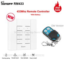 Itead sonoff rm433 433 mhz rf controlador 8 chave sem fio universal controle remoto chave elétrica para sonoff rf tx 4ch pro r2 wifi interruptor