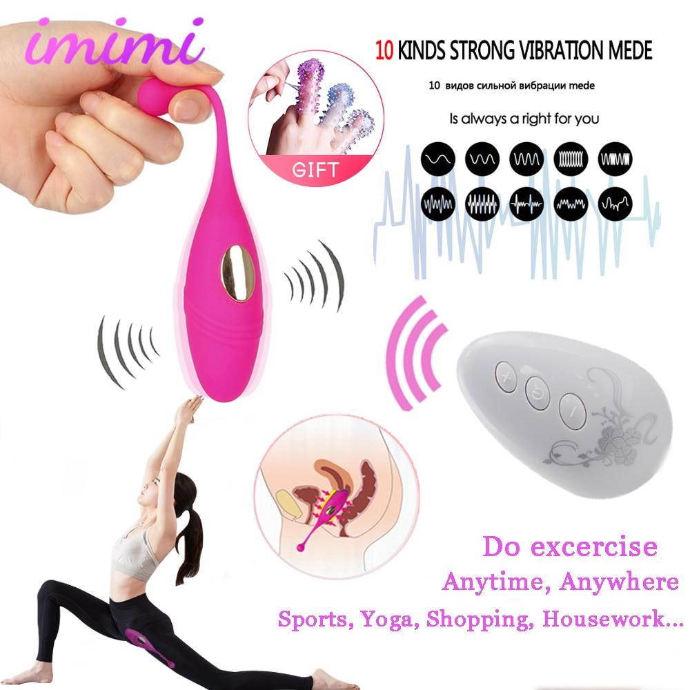 Erotic 10 Speed Vibrating Eggs Sex Toy For Women G-spot Vibrator Ben Wa Ball Remote Control Kegel Exercise Vaginal Ball Vibrator