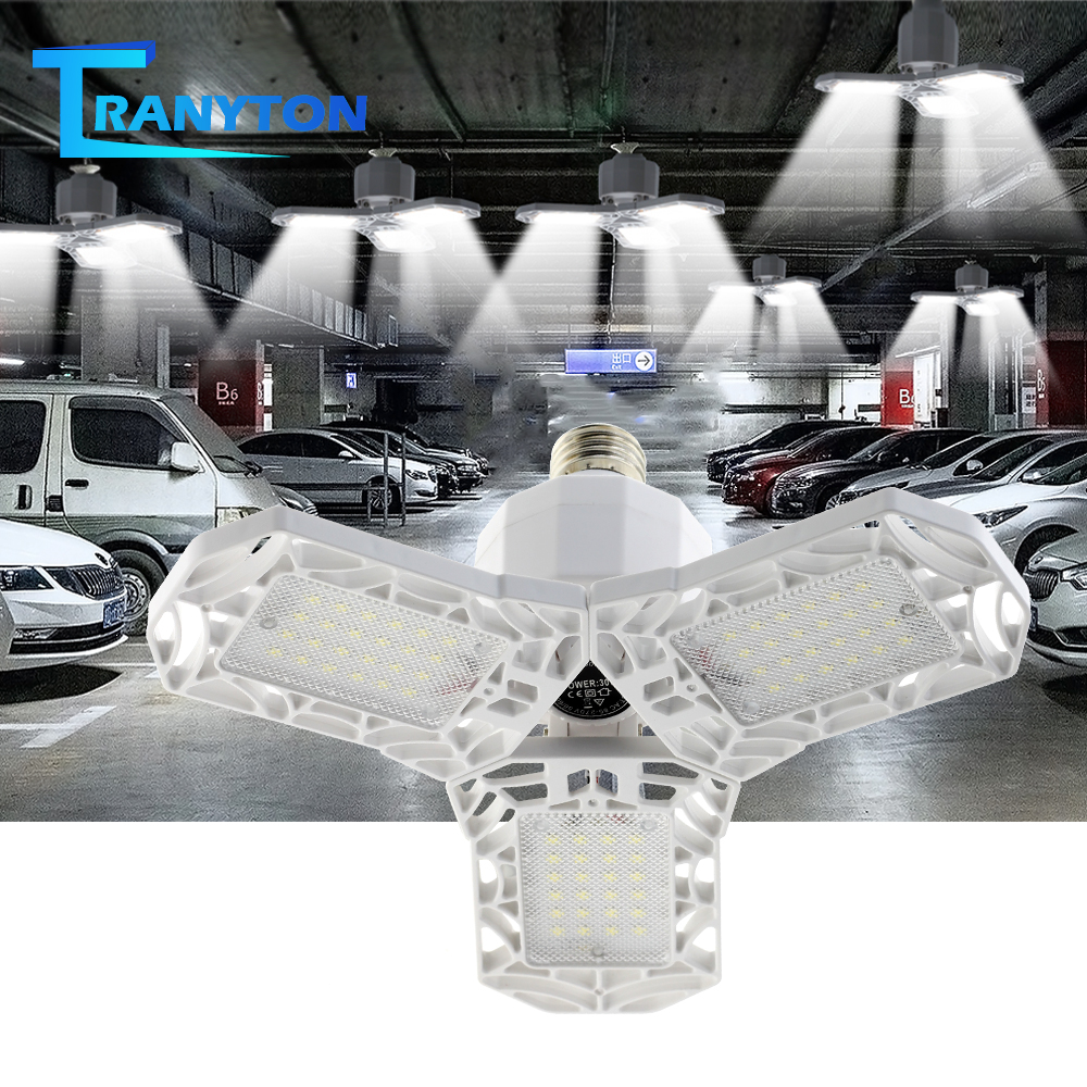 360 Degrees 15W 25W Triple Garage Light Super Bright IE27 Industrial Lighting Folding Three-Leaf Deformation Lamp AC85-270V