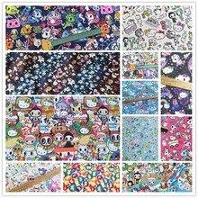 Zengia 50*148cm toki-doki unicórnio tecido de algodão macio para têxteis domésticos diy costura artesanal retalhos roupas do bebê saia retalhos