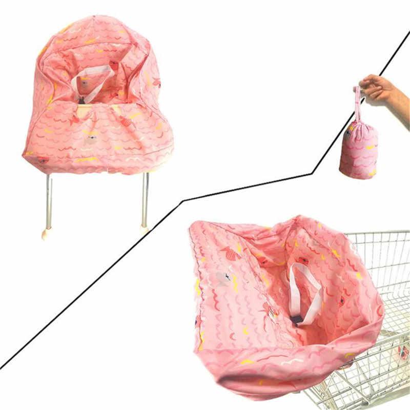 Yeni bebek çocuk süpermarket alışveriş sepeti koltuk yemek sandalyesi yastık koruma güvenli seyahat taşınabilir alışveriş sepeti yastık