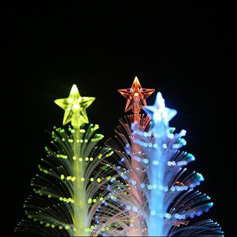 High-End Customizable Colorful Color Changing Fiber Mini Christmas Tree Electronic Guang Fiber Shu Flash Christmas Decoration Ch