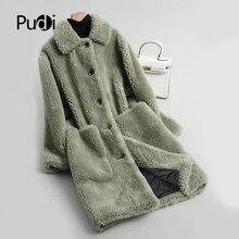A18117 女性の冬暖かいウールのオーバーコートで襟コート女性のコートのジャケットのオーバーコート PUDI