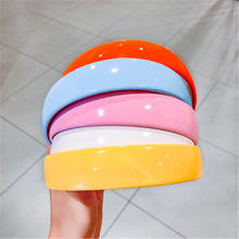 Карамельный цвет сладкий повязка на голову 2020 Новый широкополый