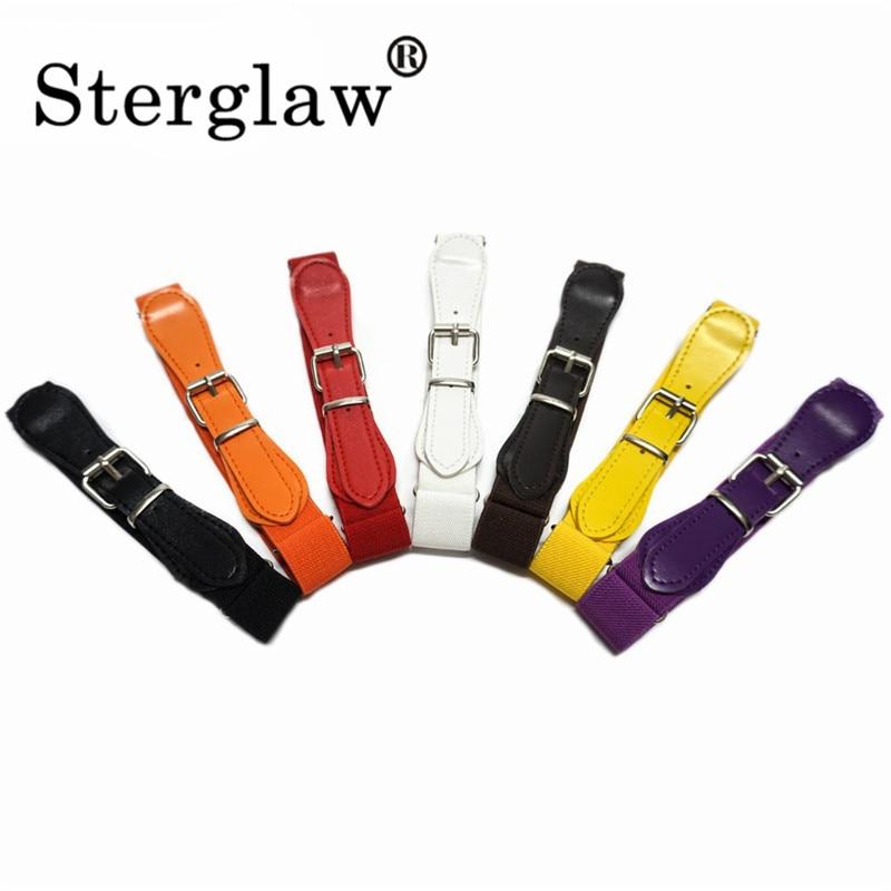 67*2.3cm Kids Children Boys Girls Elastic Waist Belt 2020 Children's Belts Multicolor Stretch Waistband Ceinture Sterglaw H215