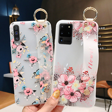 case for samsung galaxy s10 s9 s8 plus s20 ultra nillkin super frosted shield back cover for samsung s20 gift phone holder Couple Soft TPU Case For Samsung S10 S9 S8 S20 Plus Ultra Wrist Strap Phone Holder Case For Galaxy Note 8 9 10 Plus Flower Cover
