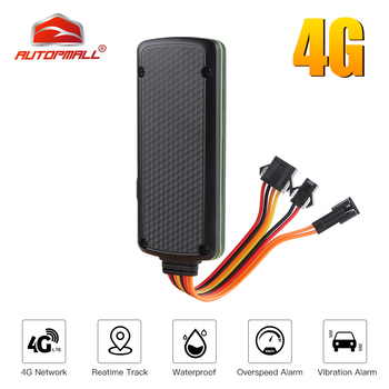 4G GPS Tracker Car 4G LTE GPS Mini SOS Waterproof ACC Move Alarm GPS Car Tracker Relay Cut Oil Engine Built-in Battery Geo-fence image